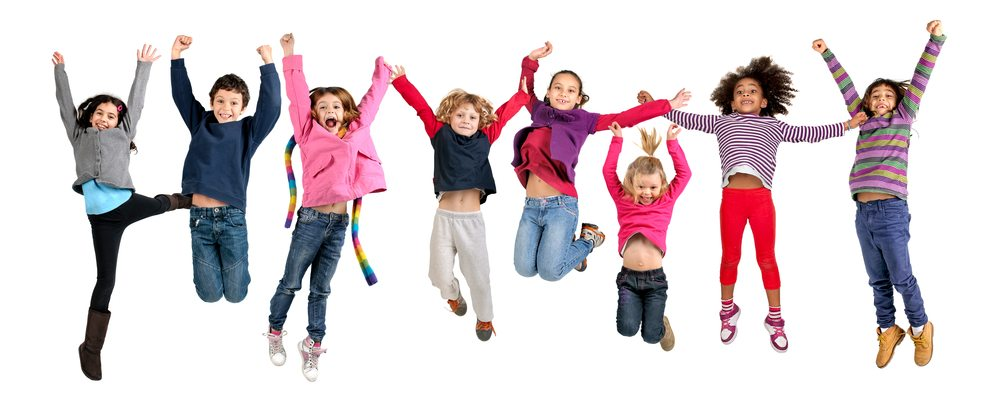 Children Jumping Up And Down